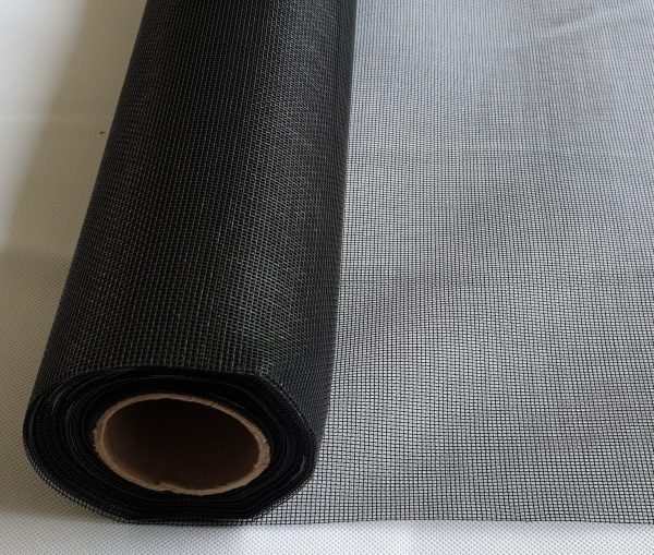 Black insect mesh roll