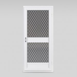 Commercial heavy duty insect screen door