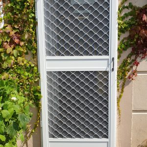 Commercial heavy duty insect screen door, external install
