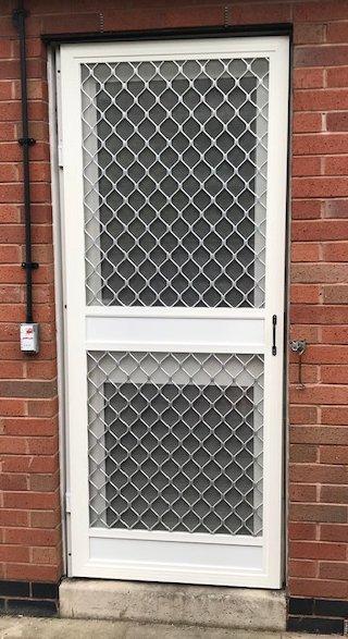 Heavy duty insect screen door