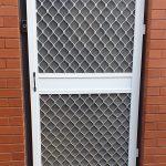Commercial insect screen door