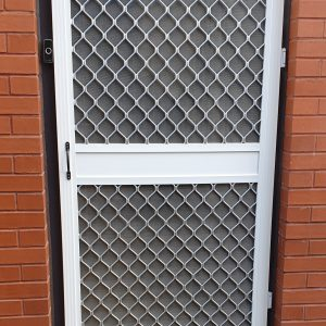 Commercial insect screen door