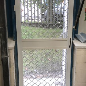 Heavy duty insect screen door