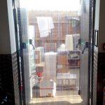 Perforated PVC strip door